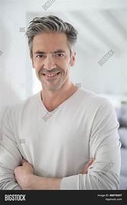 Portrait Attractive 50-year-old Man Image & Photo | Bigstock