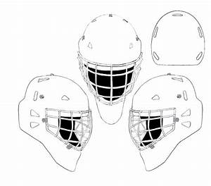 drawn masks hockey pencil and in color drawn masks hockey With bauer goalie mask template