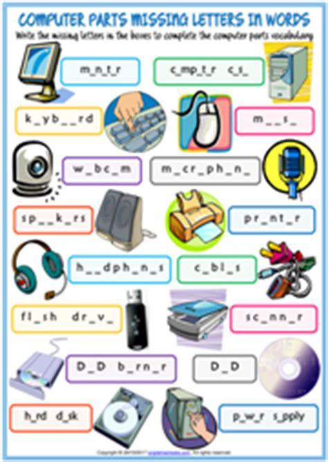 computer parts esl vocabulary worksheets