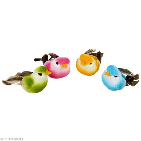 element cuisine pas cher petit oiseau en plume et résine sur fil de fer x 4