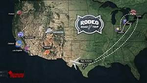 Rodeo Road Trip Map San Antonio Spurs