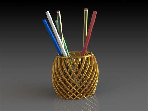 pencil holder   model stl cgtradercom