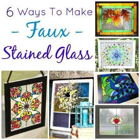 ways   faux stained glass crafty stuff stained