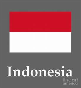 Indonesia Flag And Name Digital Art by Frederick Holiday