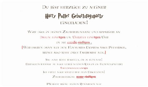 harry potter einladung sonja 180 s b 252 cherblog harry potter geburtstagsfeier