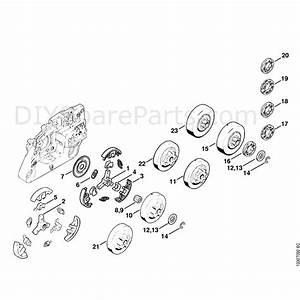 Stihl 026 Chainsaw  026pro  Parts Diagram  Clutch