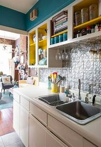50, Cool, Apartment, Kitchen, Rental, Decor, Ideas, And, Makeover