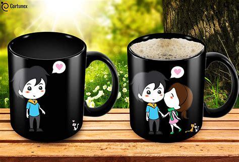 heat sensitive mug color changing coffee mug funny