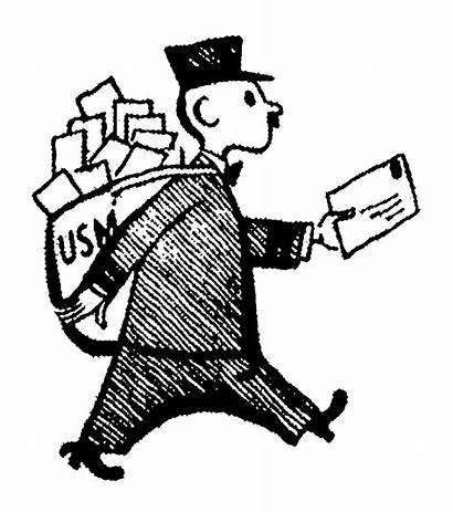 Mail Mailman Clipart Postman Illustration Digital Letters