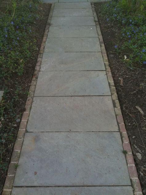 bluestone  brick edge  sailor pattern sidewalk