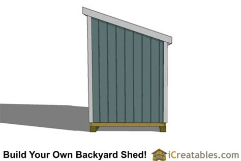 6x10 Shed Material List by 6x10 Lean To Shed Plans Icreatables