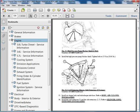 car repair manuals online pdf 1993 chevrolet s10 navigation system jeep grand cherokee 2011 2012 2013 repair manual servicemanualspdf