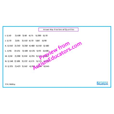 fractions of quantities worksheets