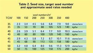 Sow Chart Optimum Winter Wheat Plant Population Hgca Topic Sheet No 36