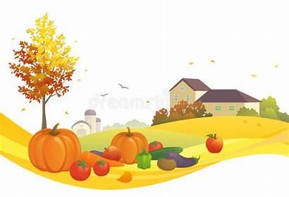 Harvest Autumn Clipart Cosecha Scene Progettazione Raccolto