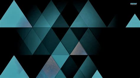 Abstract Black Triangle by Wallpaper Black Digital Abstract Symmetry Green