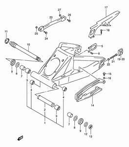 Rear Swingingarm For 2000 Suzuki Gsx1300