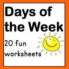 days   week printable spinner  images