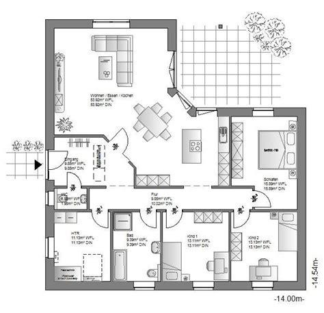 Moderne Häuser Auf Einer Ebene by Die Hauskreation Bungalow 214 Haus Bietet Leben Auf