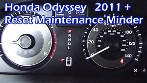 Honda Odyssey Reset Maintenance Minder 2011 - 2017