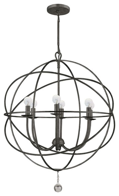 wrought iron sphere chandelier chandeliers by horchow