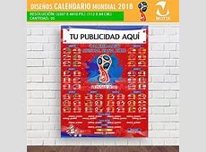 Calendario Mundial RUSIA 2018 Para Imprimir y Registrar