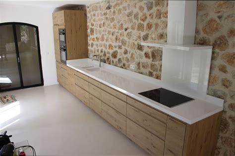 cuisine blanc bois cuisine bois plan de travail blanc