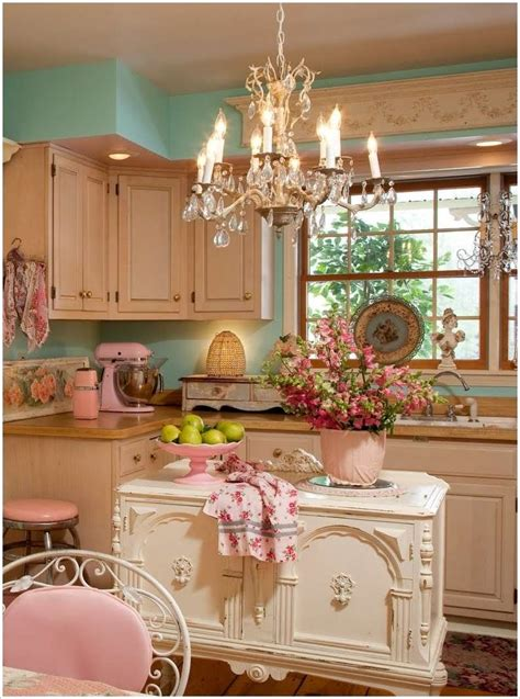 shabby chic kitchens  youll fall  love