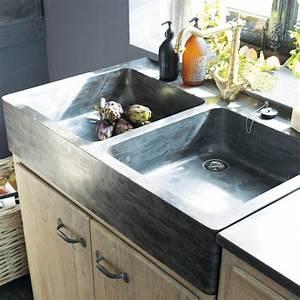 Evier Cuisine En Pierre : meubles de cuisine ind pendant et ilot maison du monde ~ Premium-room.com Idées de Décoration