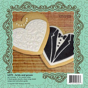 bride groom cookie cutter stencil set