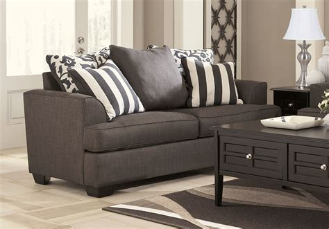 levon charcoal sofa set cincinnati overstock warehouse