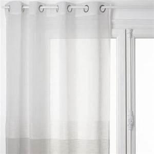 Rideau Voilage Gris : rideau voilage histoire 140x240cm gris ~ Preciouscoupons.com Idées de Décoration