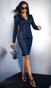 Blue Skirt Suit Women