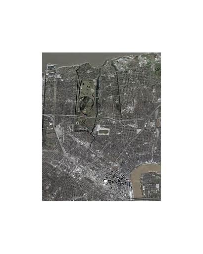 Orleans Msi Katrina Hurricane Levee Merge Satellite