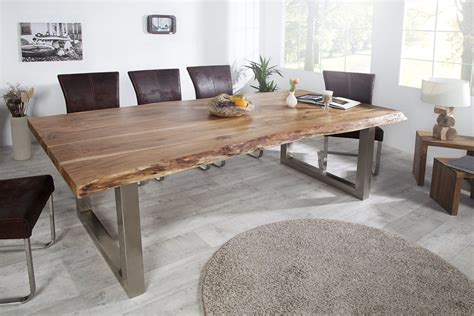 table de cuisine en bois massif table salle a manger bois brut tres grande table salle a