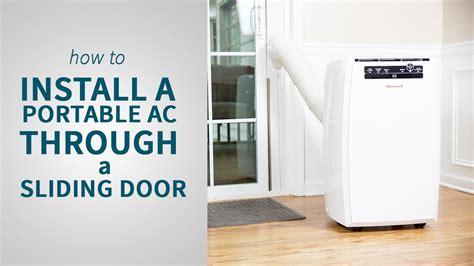 installing portable air conditioner  sliding door  door