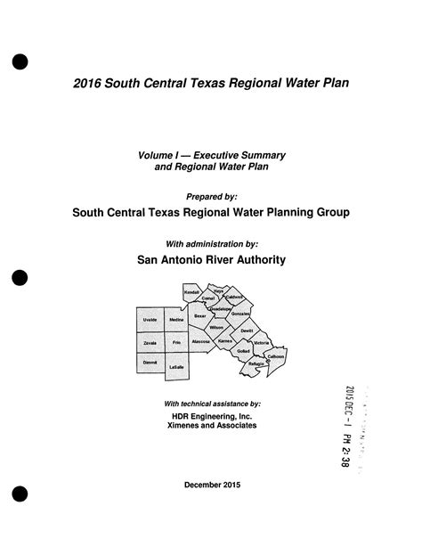 Regional Water Plan: Region L (South Central Texas), 2016