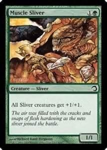 magic the gathering slivers deck single muscle sliver foil