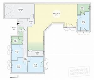 cuisine plan d maison plain pied contemporaine ma2 suite With plan de maison 110m2 4 maison accessible detail du plan de maison accessible