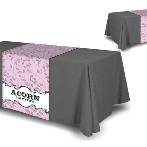 tension fabric table covers full color table runner table cloth not included next