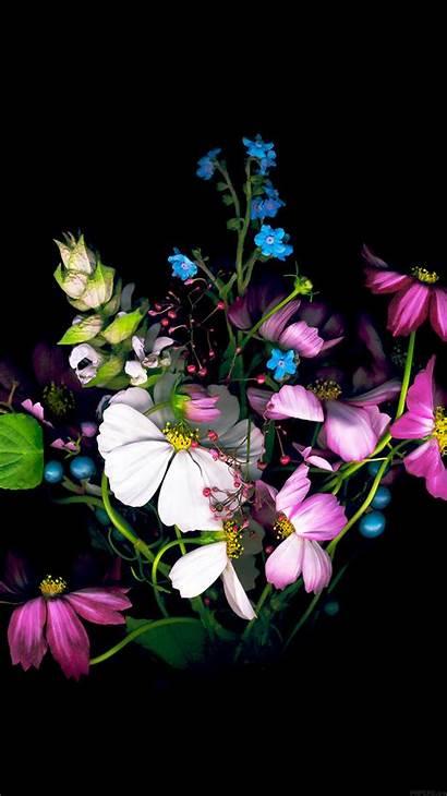 Iphone Flower Dark Apple Iphone6 Ios8 Wallpapers