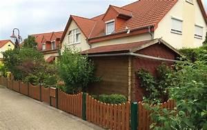 Gartenzaune for Französischer balkon mit gartenzaun kunststoff holzoptik