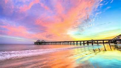 Beach California 4k Wallpapers Nature Pier 1440p