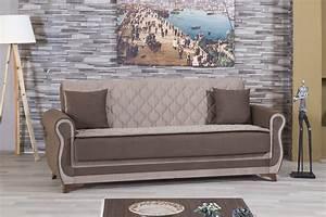 Luxmark sarp dark beige convertible sofa bed by casamode for Dark beige sectional sofa