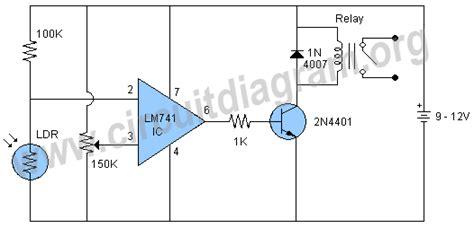 Dark Sensor Relay Switch Using Circuit Diagram