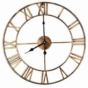 Horloge Murale Chiffre Romain : horloge murale r tro chiffres romains d coindustriel ~ Teatrodelosmanantiales.com Idées de Décoration