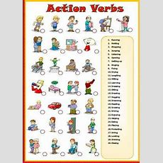 Action Verbs Matching Activity