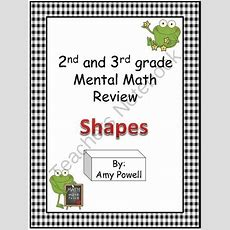 Freebie 2nd And 3rd Grade Mental Math Review  Shapes From It's Elementary Mrs Powell On