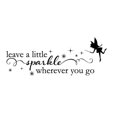 fairy leave   sparkle wall quotes decal