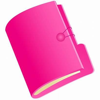 Folder Folders Document Clipart Pink Icon Vector